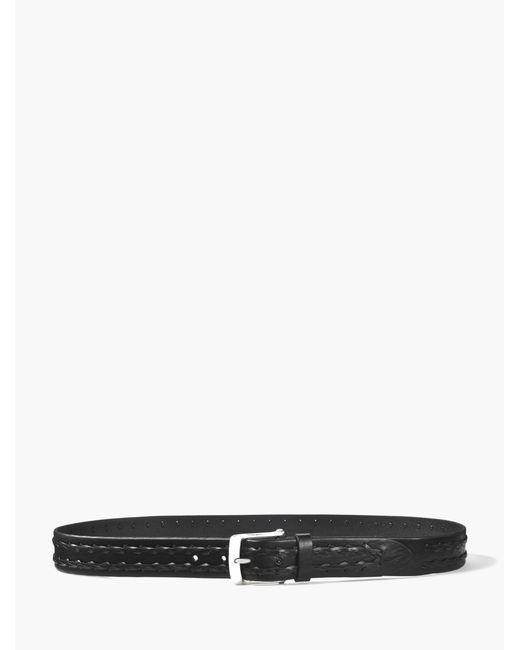 John Varvatos | Black Braided Leather Belt for Men | Lyst
