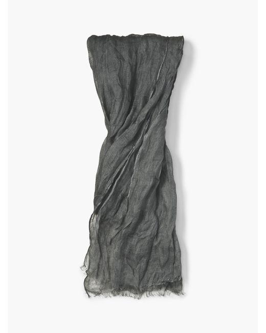 John Varvatos | Gray Linen Crinkled Scarf for Men | Lyst