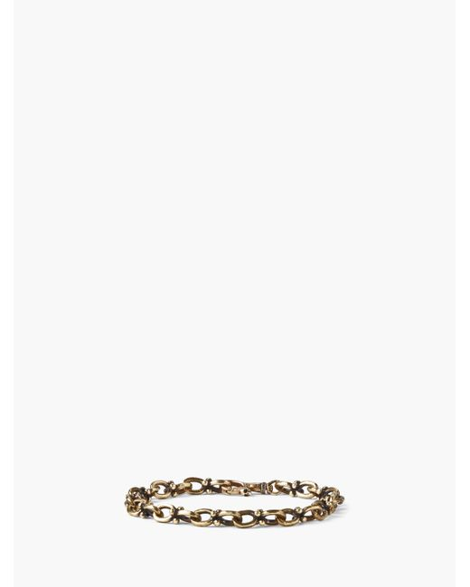 John Varvatos - Metallic Brass Chain Bracelet for Men - Lyst