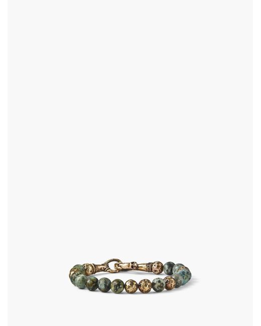 John Varvatos - Metallic Artisanal Beaded Bracelet for Men - Lyst