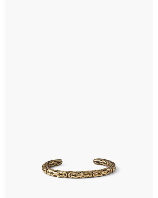 John Varvatos - Multicolor Brass Braided Cuff for Men - Lyst