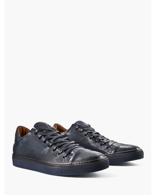 John Varvatos - Blue Reed Low Top Sneaker for Men - Lyst