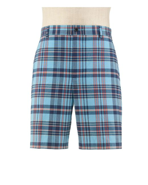 Jos. A. Bank - Blue Stays Cool Tailored Fit Plain Front Plaid Shorts Big And Tall Clearance By for Men - Lyst