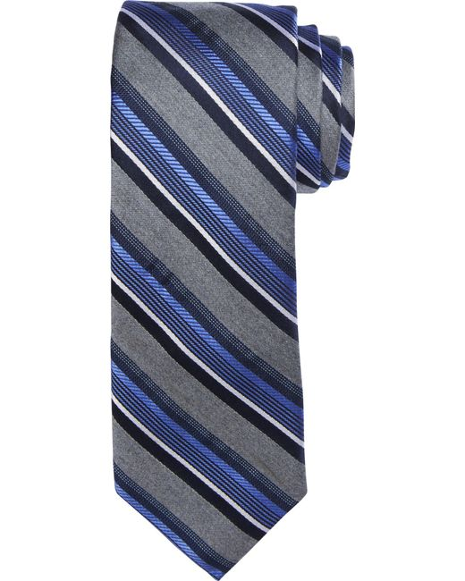 Jos. A. Bank   Blue 1905 Collection Heathered Stripe Tie for Men   Lyst
