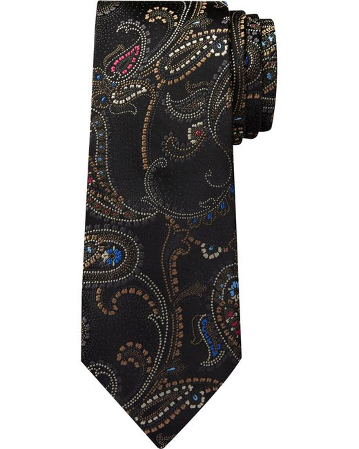 Jos. A. Bank - Black Reserve Collection Paisley Tie for Men - Lyst