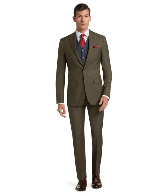 Jos a bank traveler 39 s collection tailored fit suit in for Jos a bank slim fit vs tailored fit shirts