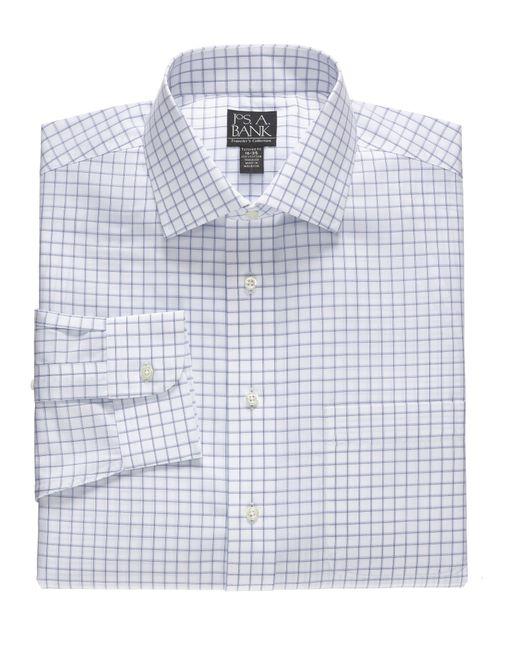 Jos a bank traveller tailored fit spread collar dress for Tailoring a dress shirt
