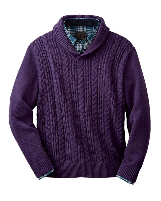 Jos. A. Bank | Purple Executive Collection Cotton Shawl Collar Sweater for Men | Lyst