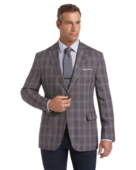 Lyst jos a bank joseph abboud tailored fit sportcoat for Jos a bank tailored fit vs slim fit shirts