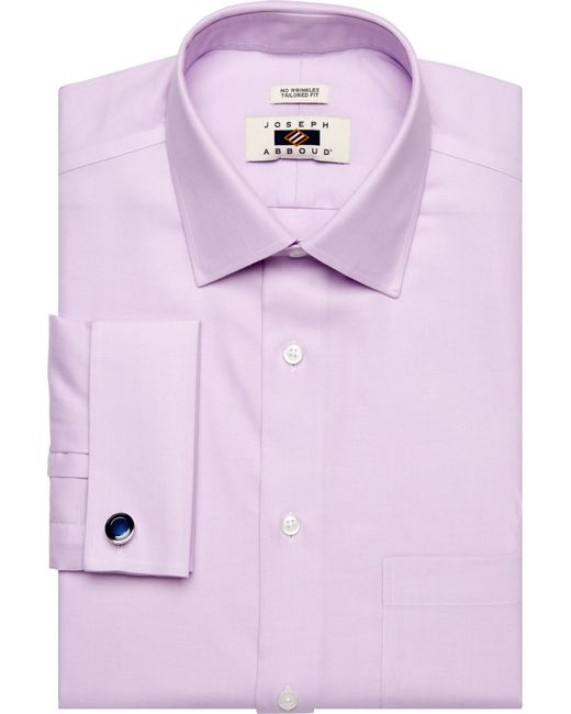Jos a bank joseph abboud tailored fit spread collar for Royal purple mens dress shirts
