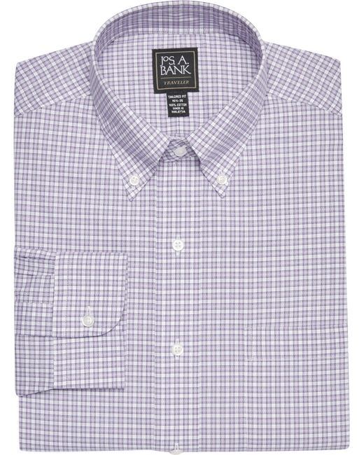 Lyst jos a bank traveler collection tailored fit for Joseph banks dress shirts