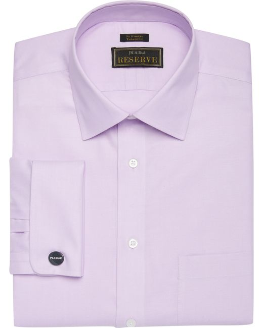 Lyst jos a bank reserve collection tailored fit spread for Royal purple mens dress shirts