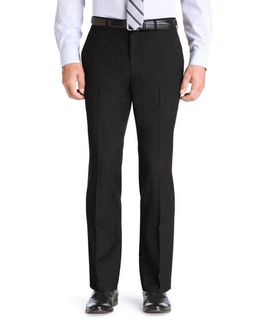 Jos. A. Bank | Black Traveler Collection Traditional Fit Flat Front Dress Pants - Big & Tall for Men | Lyst