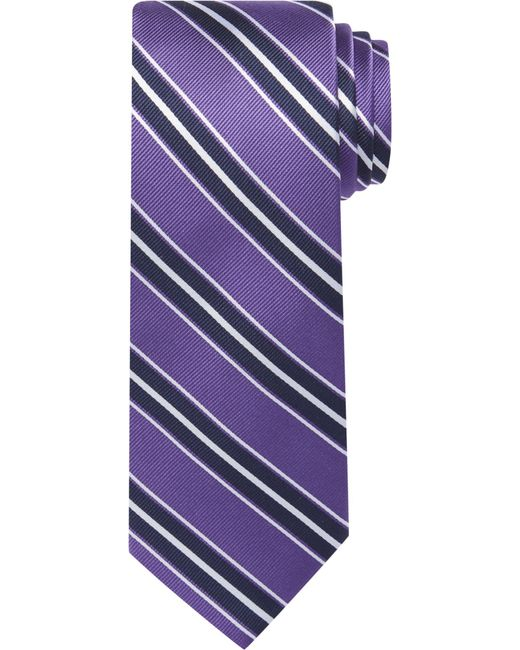 Jos. A. Bank - Purple Traveler Collection Triple Stripe Tie for Men - Lyst