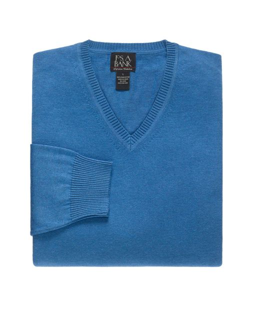 Jos. A. Bank - Blue Signature Collection Pima Cotton V-neck Men's Sweater for Men - Lyst