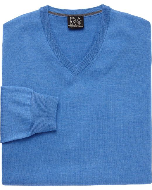 Jos. A. Bank | Blue Traveler Collection Merino V Neck Sweater - Big And Tall Clearance for Men | Lyst