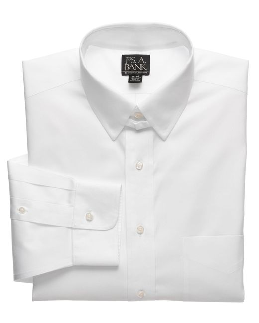 Lyst jos a bank traveler collection traditional fit for Mens tab collar dress shirts