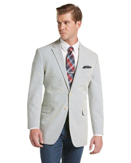 Lyst jos a bank 1905 seersucker striped tailored fit for Jos a bank tailored fit vs slim fit shirts
