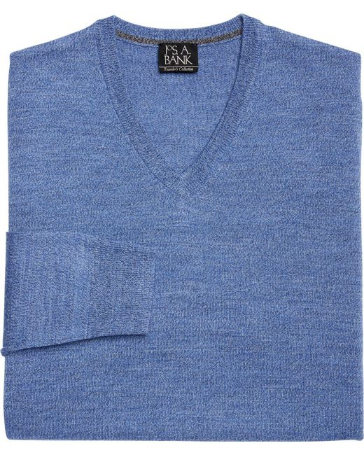 Jos. A. Bank | Blue Traveler Collection Merino Wool V-neck Sweater - Big & Tall for Men | Lyst