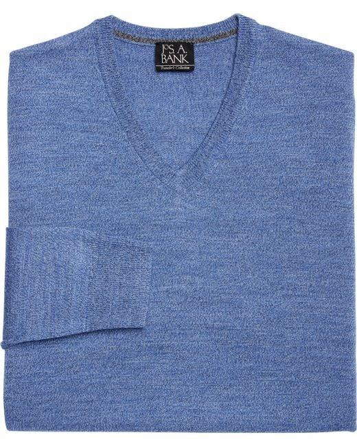 Jos. A. Bank - Blue Traveler Collection Merino V-neck Sweater for Men - Lyst