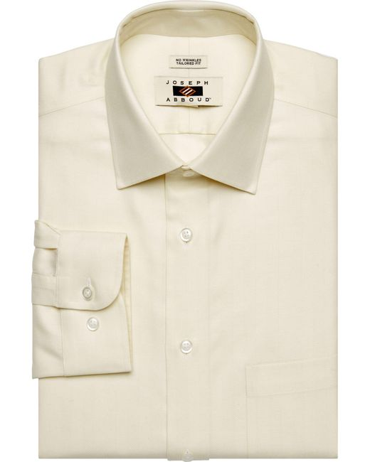 Lyst jos a bank joseph abboud tailored fit spread for Tailoring a dress shirt