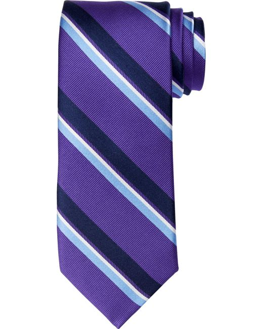 Jos. A. Bank | Purple Executive Collection Wide Stripe Tie Clearance for Men | Lyst