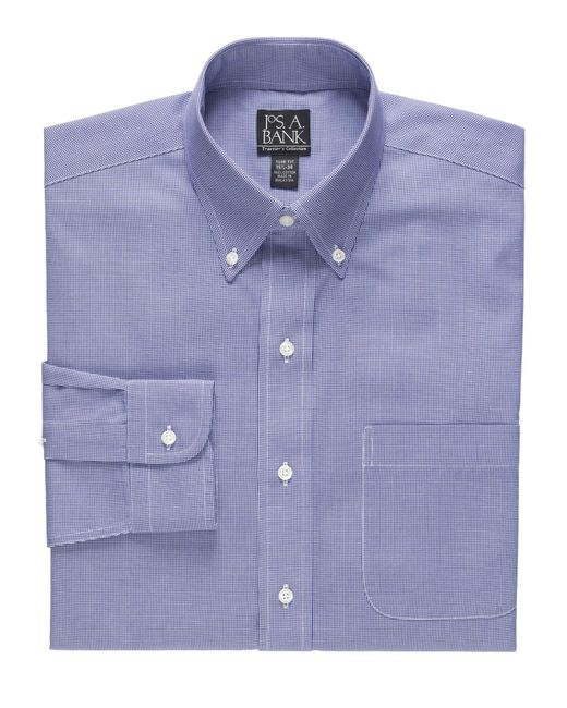 Jos a bank traveller collection tailored fit button down for Joseph banks dress shirts