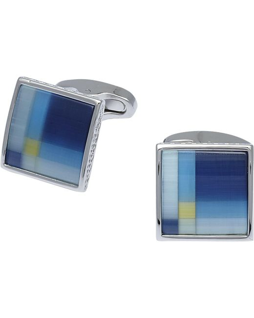Jos. A. Bank | Silver & Blue Cufflinks for Men | Lyst