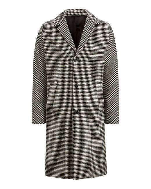 Joseph - Black Manteau Albert Smartie Dogtooth for Men - Lyst