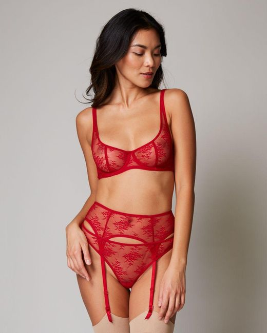 a2227eed8 Journelle - Red Romy Suspender Belt - Lyst ...