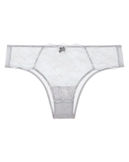 Natori - White Devotion Tanga - Lyst