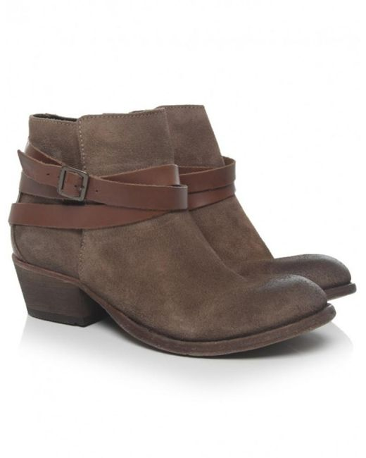 H by Hudson | Natural Horrigan Leather & Suede Boots | Lyst