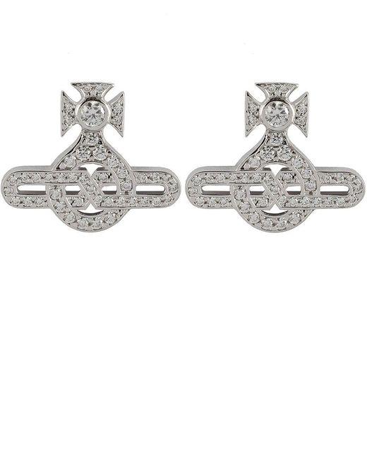 Vivienne Westwood | Metallic Infinity Orb Stud Earrings | Lyst