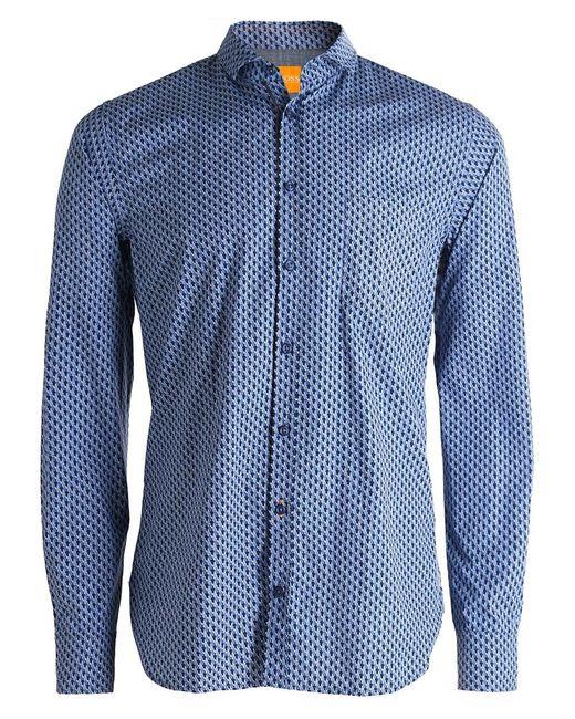 BOSS Orange | Blue Slim Fit Cattitude Creative Shirt for Men | Lyst