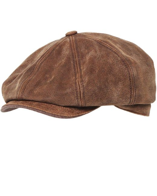 Stetson - Brown Burney Pig Skin Cap for Men - Lyst