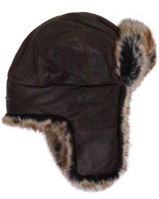 Stetson | Brown Leather Alaska Trapper Hat for Men | Lyst