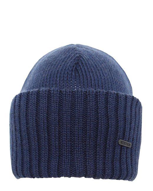 Stetson - Blue Merino Wool Beanie Hat - Lyst