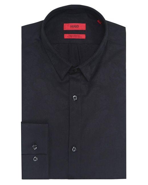 HUGO - Black Extra Slim Fit Ero3 Shirt for Men - Lyst