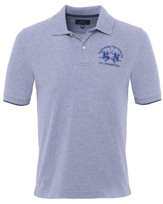 La Martina | Gray Plain Polo Shirt for Men | Lyst