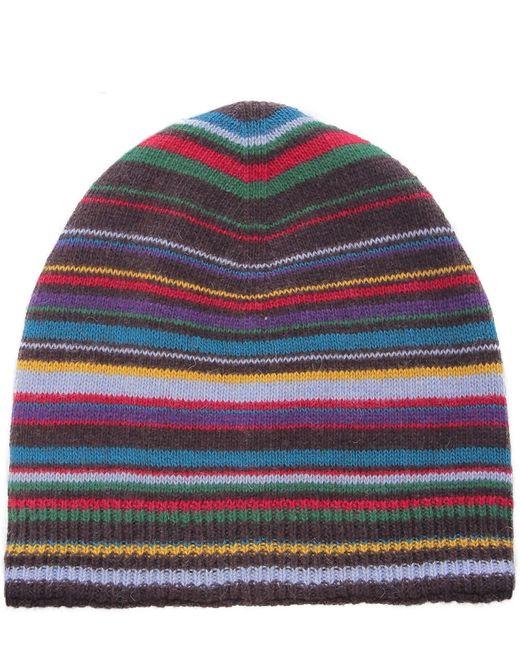 Paul Smith | Black Multistripe Beanie Hat for Men | Lyst
