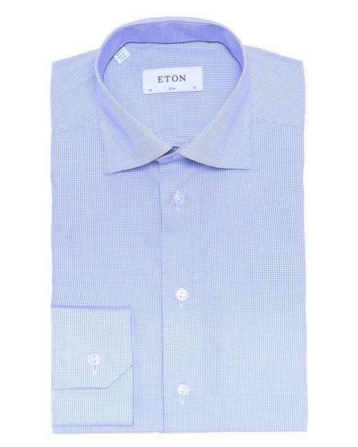 Eton of Sweden | Blue Long Sleeve Contemporary Fit Check Dress Shirt for Men | Lyst
