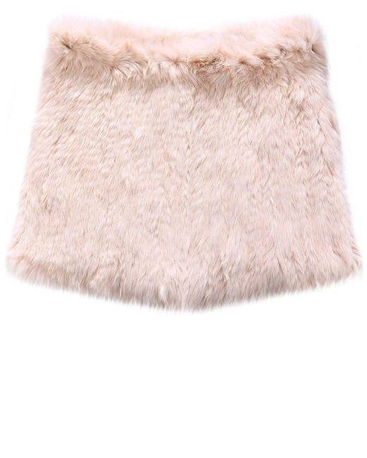 Yves Salomon | Pink Fur Snood | Lyst