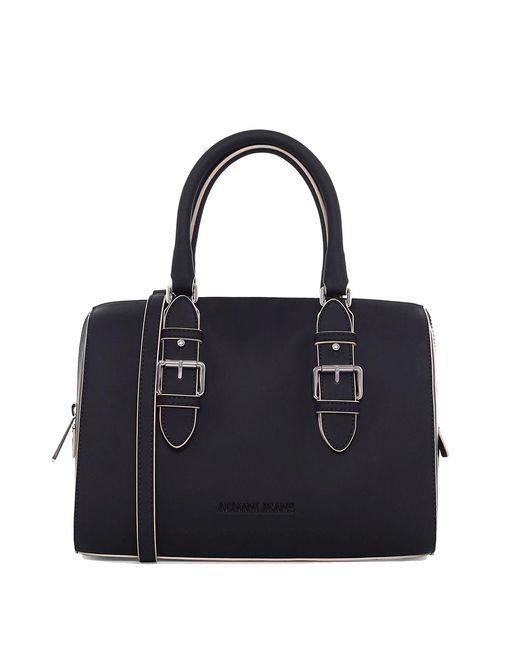 Armani Jeans | Black Matte Bowling Bag | Lyst