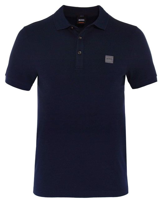 BOSS - Blue Slim Fit Passenger Polo Shirt for Men - Lyst