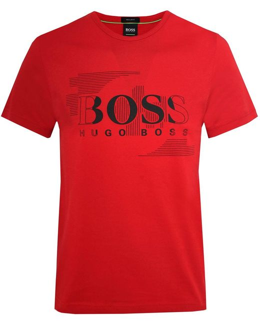 BOSS - Red Regular Fit Tee 1 T-shirt for Men - Lyst