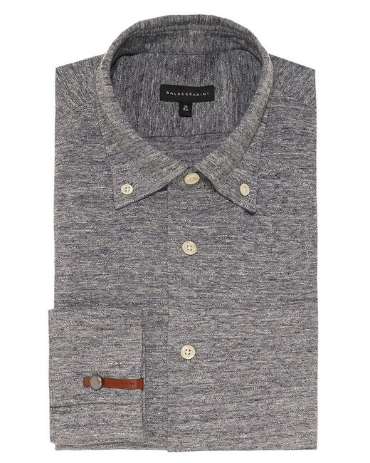 Baldessarini | Gray Tailored Fit Jersey Bale Shirt for Men | Lyst