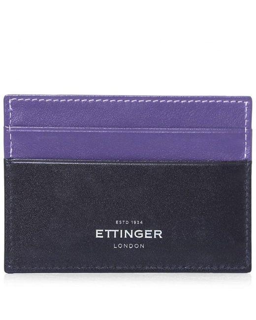 Ettinger - Purple Calf Leather Sterling Billfold Wallet for Men - Lyst