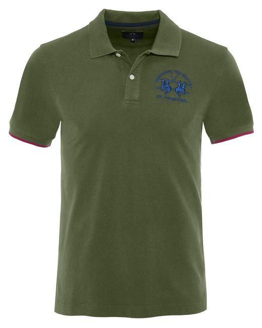 La Martina - Green Pique Miguel Polo Shirt for Men - Lyst