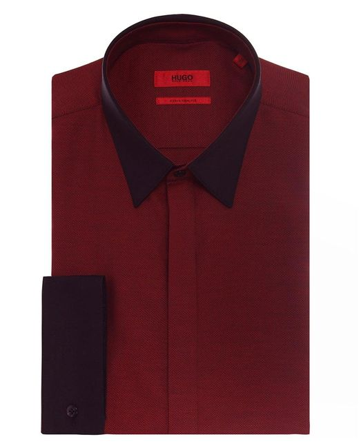 HUGO | Red Extra Slim Fit Elynon Shirt for Men | Lyst