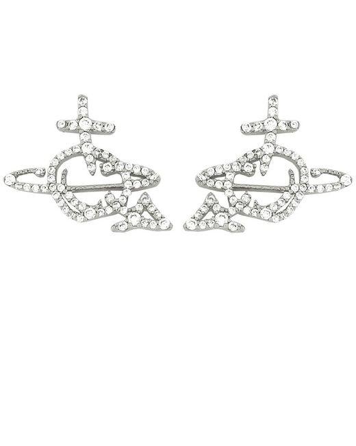 Vivienne Westwood | Metallic Orb Diamante Earrings | Lyst